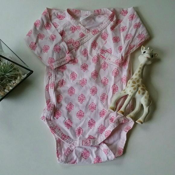 2ac3b7f24 Kate Quinn Organics One Pieces   Damask Kimono Wrap Onesie   Poshmark